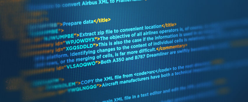 Why using XML is beneficial for airline document management