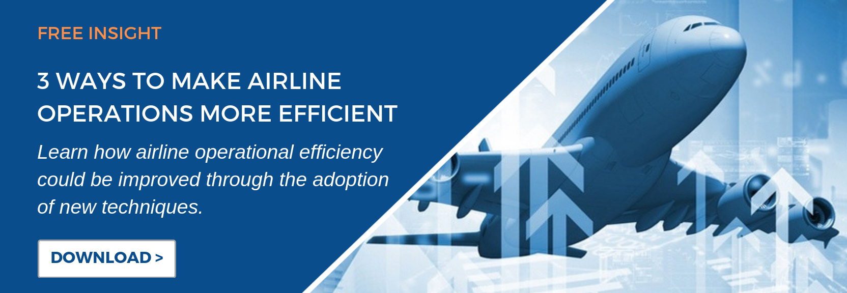Learn the three ways that airline operational efficiency could be improved